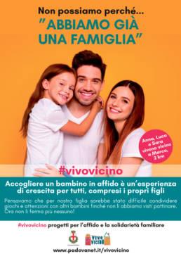 grafica campagna affido - famiglia