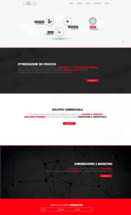 grafica home page sito nous